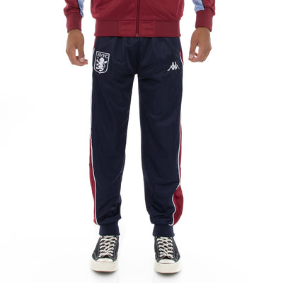 222 Banda 10 Aril Retro Aston Villa Trackpants - Blue Marine Red Claret