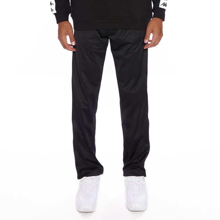 Kappa 222 Banda Disso Reflective Trackpants - Black Grey Reflective