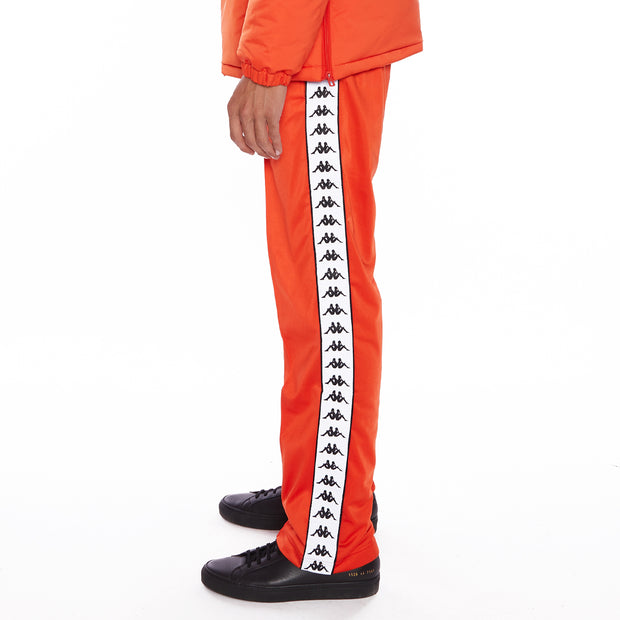 Kappa 222 Banda Disso Reflective Trackpants - Bright Red Grey Reflective
