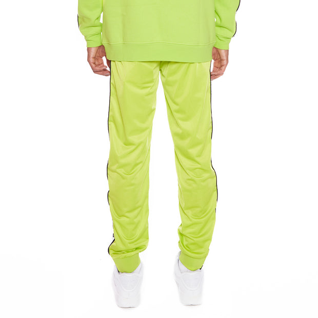 Kappa 222 Banda Dodo Reflective Trackpants - Green Lime Silver