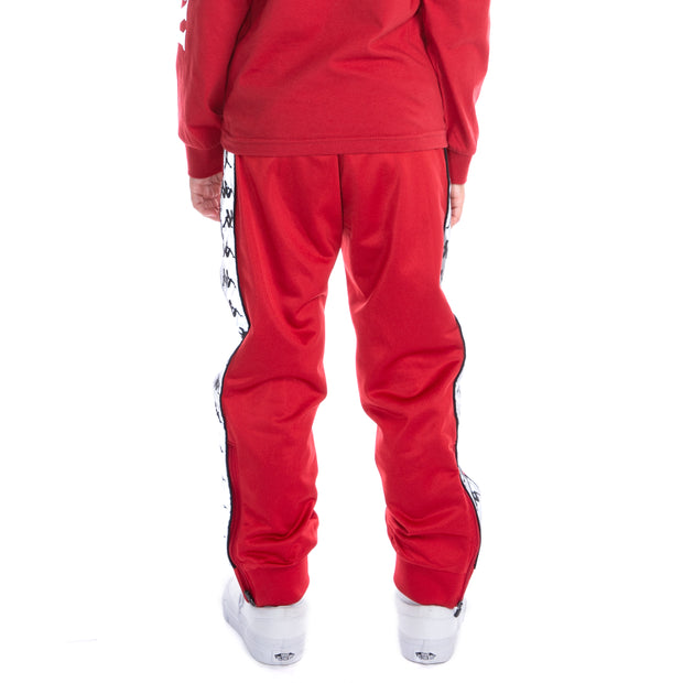 Kids 222 Banda Dodo Reflective Trackpants - Red Grey Reflective