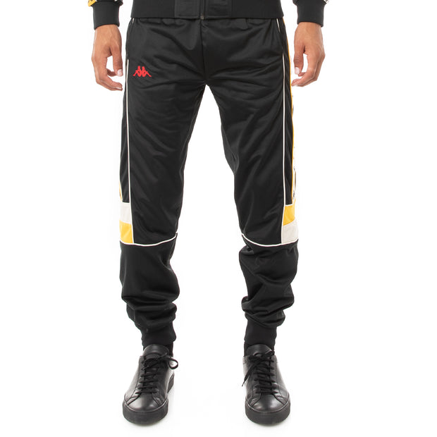 Kappa 222 Banda Daso Trackpants - Black Red Yellow Gold
