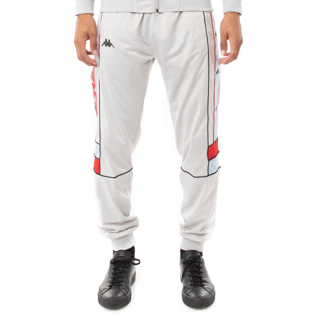 Kappa 222 Banda Daso Trackpants - Grey Blue Red