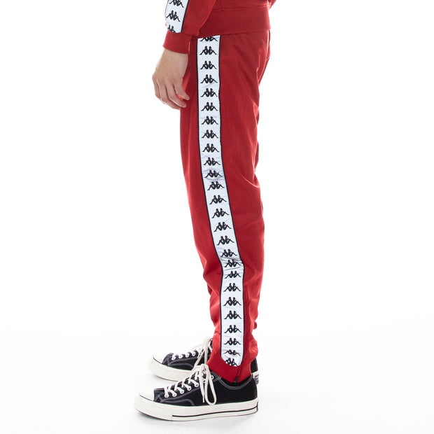 222 Banda Dodo Reflective Trackpants - Red Grey Reflective