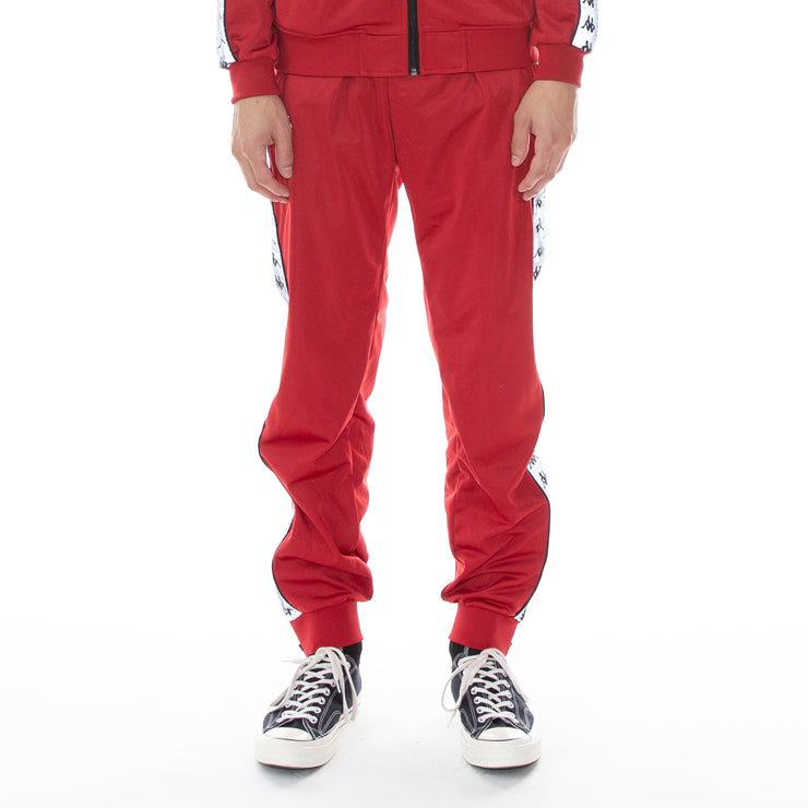 222 Banda Dodo Reflective Trackpants Red Grey Reflective