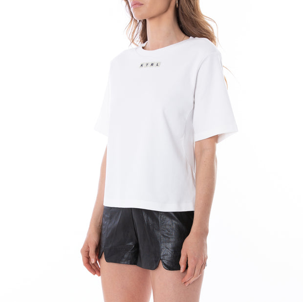 Kontroll Button T-Shirt Bright White