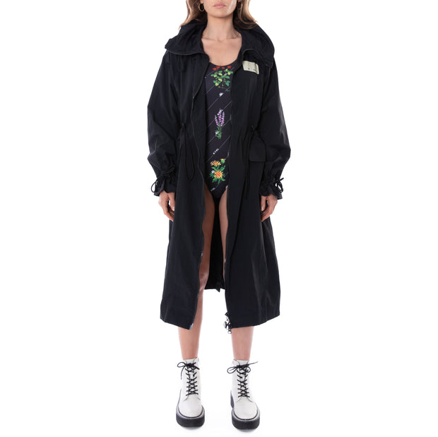 Kontroll Long Trench Coat Black