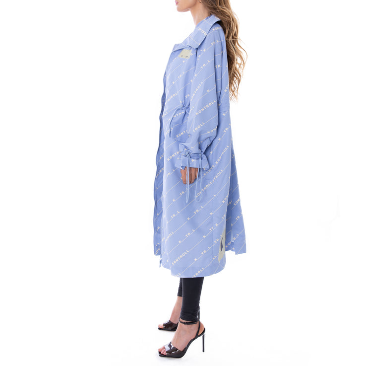 Kontroll Long Trench Coat Fancy Azure Ktrl