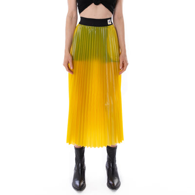 Kontroll Plisse Skirt Yellow Black