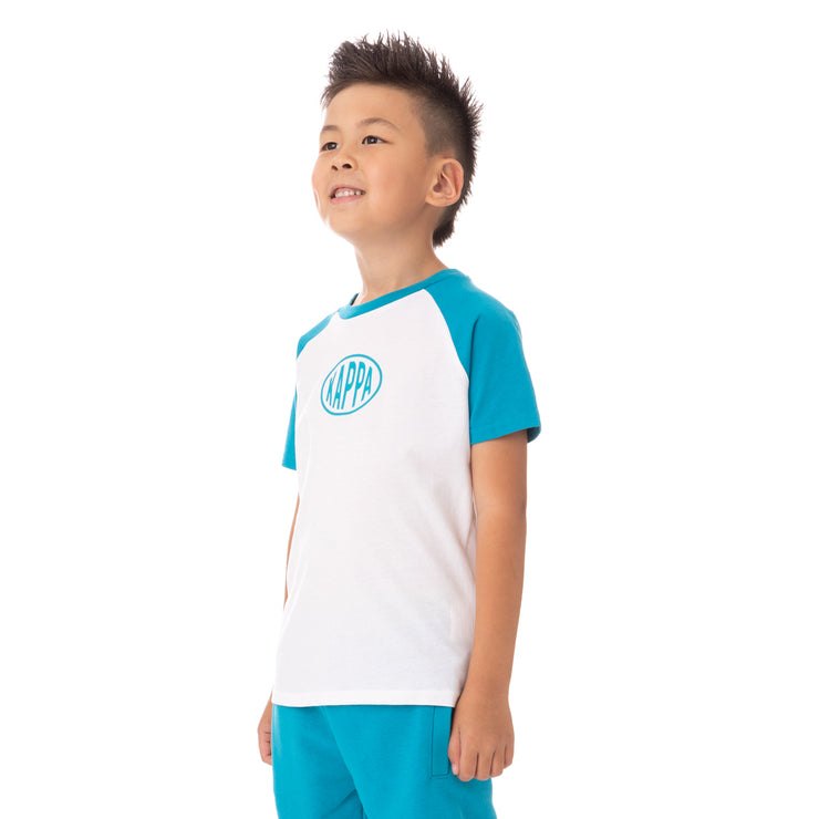 Kids Authentic Pop Elaysa T-Shirt - White Green Sea