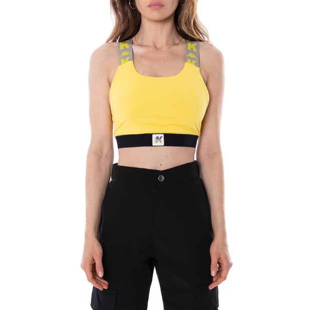 Kontroll Sports Bra Yellow Black