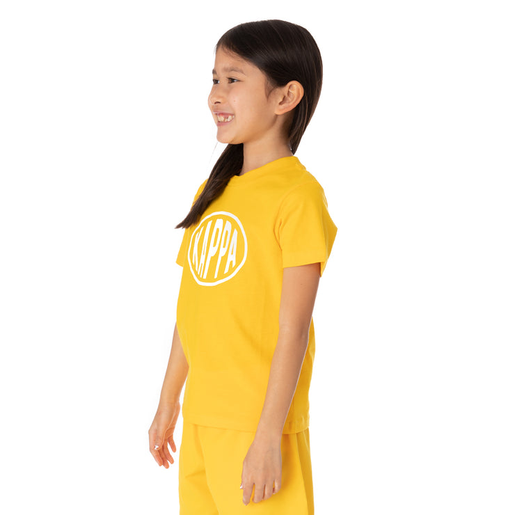 Kids Authentic Pop Esazar T-Shirt - Yellow Dk White
