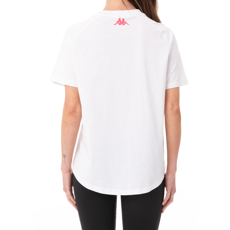 Authentic Pop Emasar T-Shirt - White Fuchsia