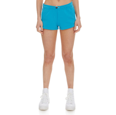 Authentic Pop Esia Shorts - Green Sea White