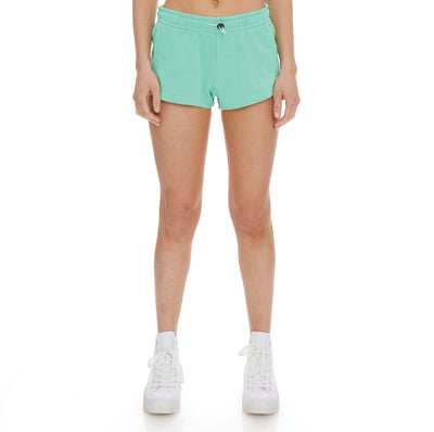Authentic Pop Esia Shorts - Green Spring White