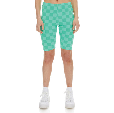 Authentic Pop Emiaza Bike Shorts - Green Spring White