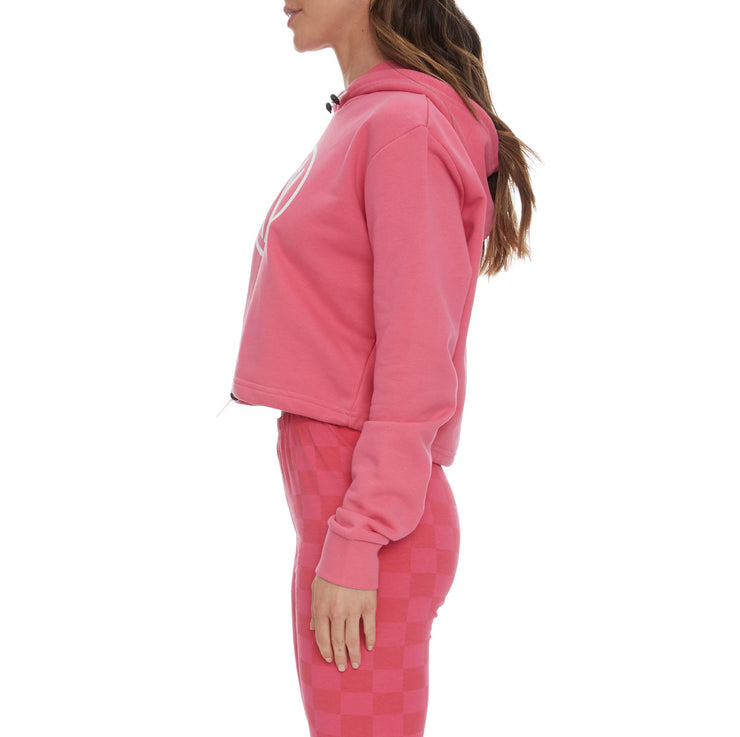 Authentic Pop Elanta Hoodie - Fuchsia White