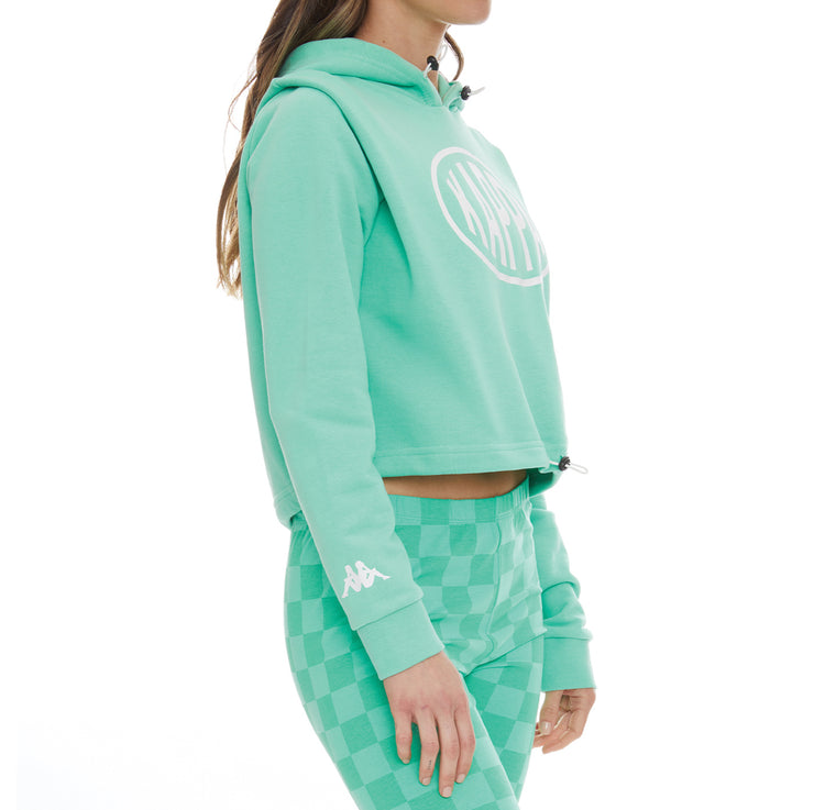 Authentic Pop Elanta Hoodie - Green Spring White