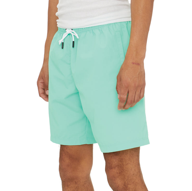 Authentic Pop Emay Swim Shorts - Green Spring White