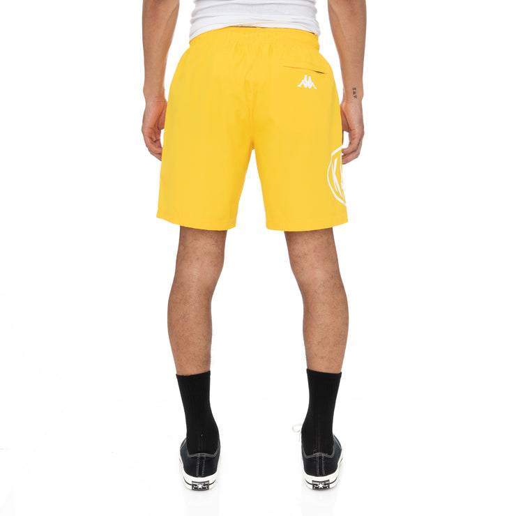 Authentic Pop Emay Swim Shorts - Yellow Dk White