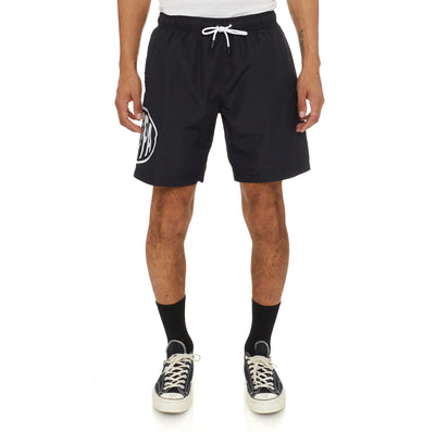 Authentic Pop Emay Swim Shorts - Black White