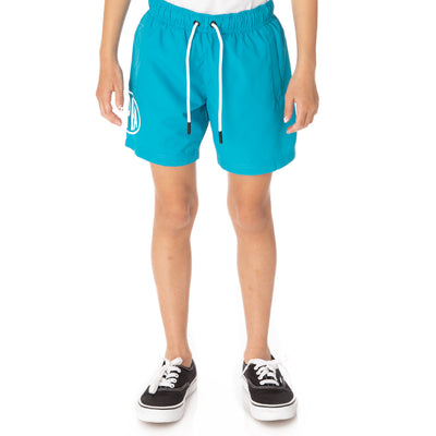 Kids Authentic Pop Emay Swim Shorts - Sea White