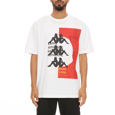 Authentic HB Etas T-Shirt - White Red
