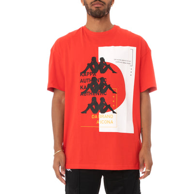 Kappa Authentic HB Etas T-Shirt - Red White