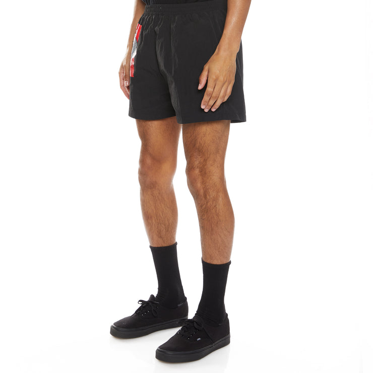 Authentic HB Ethan Swim Shorts - Black Red