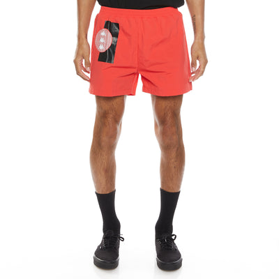 Authentic HB Ethan Swim Shorts - Red Black