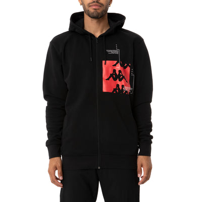 Authentic HB Ecliss Hoodie - Black Red