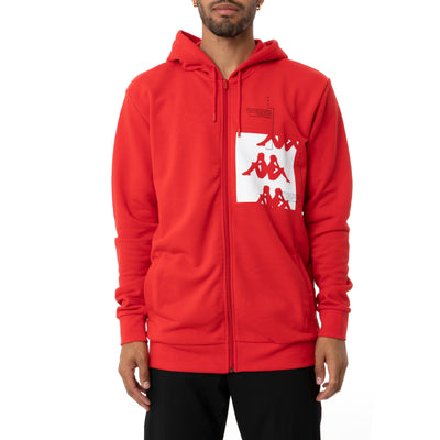 Authentic HB Ecliss Hoodie - Red White