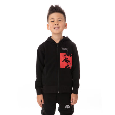 Kids Authentic Hb Ecliss Zip Hoodie - Black Red