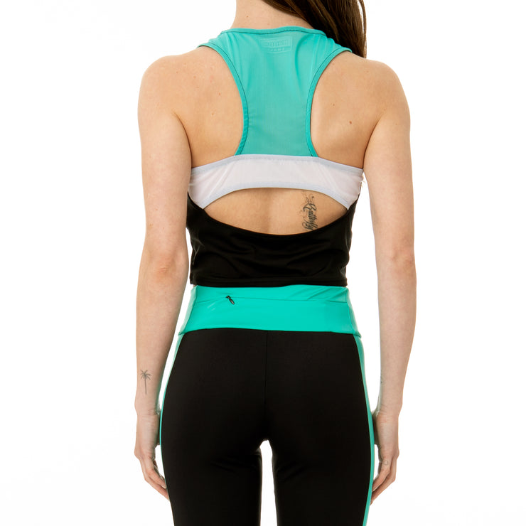 Kombat Cheryl Active Tank - Black Green White