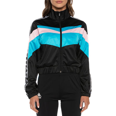 Authentic Football Esta Track Jacket - Black Blue Pink