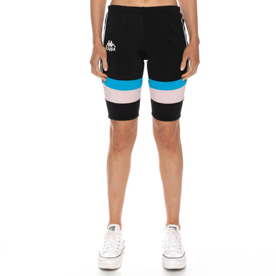 Authentic Football Eve Bike Shorts - Black Blue Pink