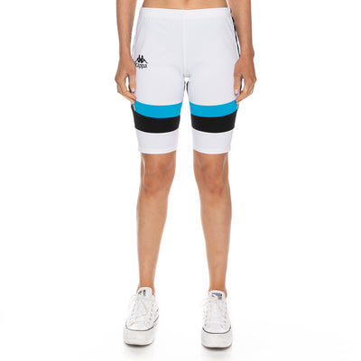 Authentic Football Eve Bike Shorts - White Blue Black
