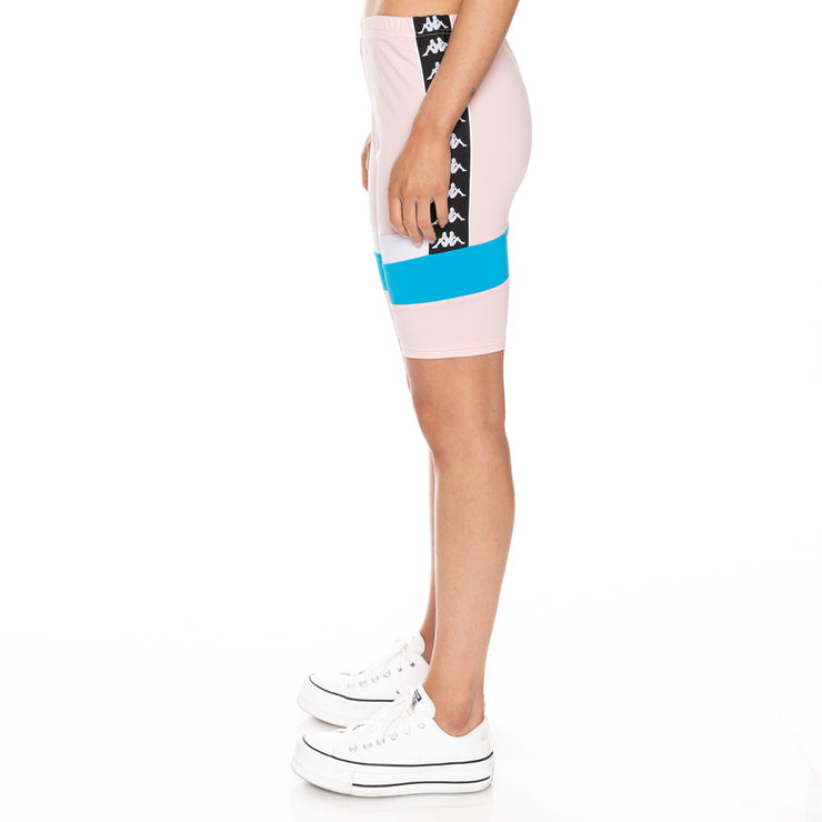 Authentic Football Eve Bike Shorts - Pink White Blue