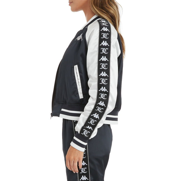 Authentic Juicy Couture Europa Bomber Jacket - Black White