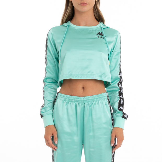 Authentic Juicy Couture Eres Crop Track Jacket - Mint Black