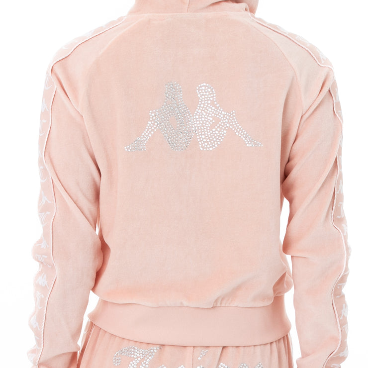 Authentic Juicy Couture Egeo Velour Hoodie - Pink Blush