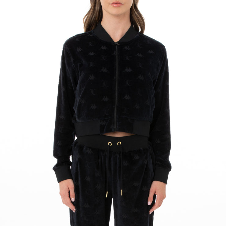 Authentic Juicy Couture Elasi Velour Jacket - Black Smoke
