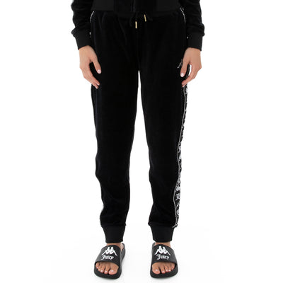 Authentic Juicy Couture Ella Velour Leggings - Black Smoke
