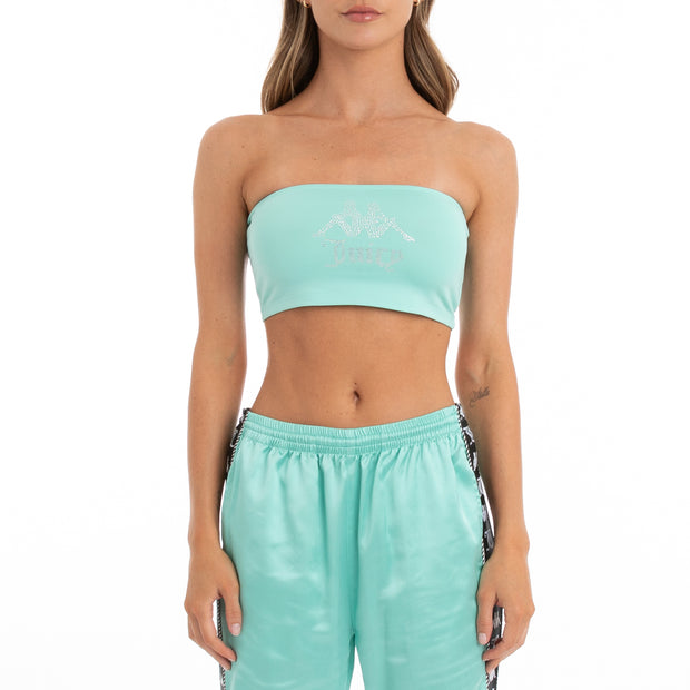 Authentic Juicy Couture Eva Bandeau - Green Lt Ocean