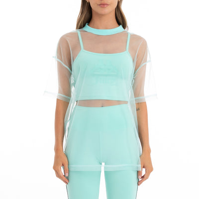 Authentic Juicy Couture Elena Top - Green Lt Ocean