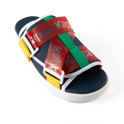 Authentic Mitel 1 Sandals - Blue Red Yellow