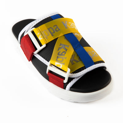 Authentic Mitel 1 Sandals - Black Yellow Red