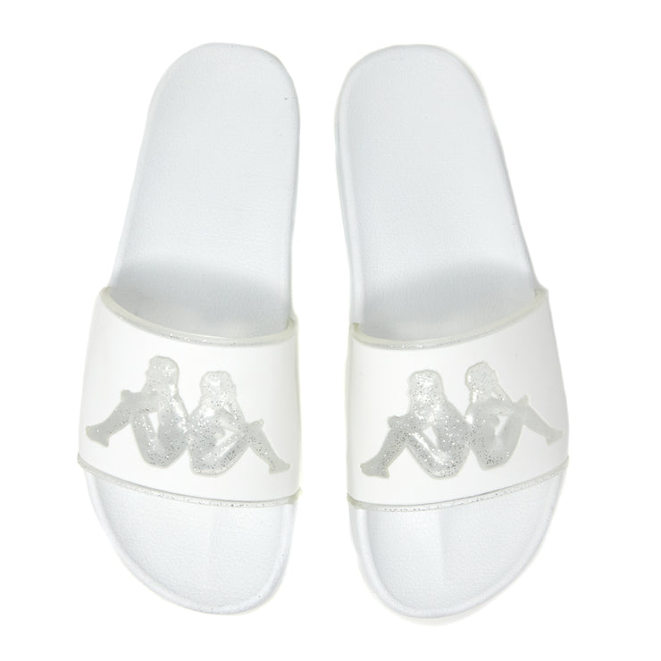 Authentic Aqua 1 Slides - White Silver
