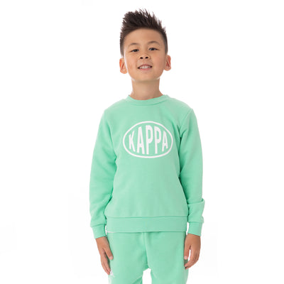 Kids Authentic Pop Epaz Sweatshirt - Green Spring White