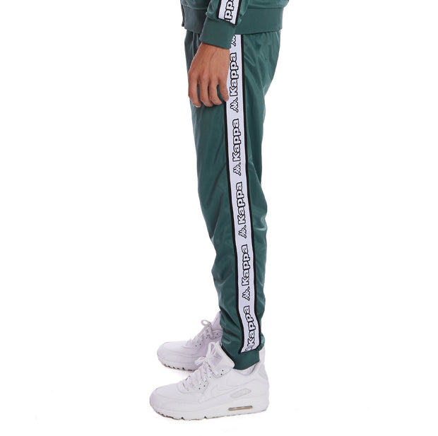 Kappa Logo Tape Alic 2 Trackpants - Green Pine White Black